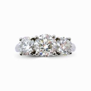 Brilliant Cut Diamond Three Stone Ring - 2.50ct